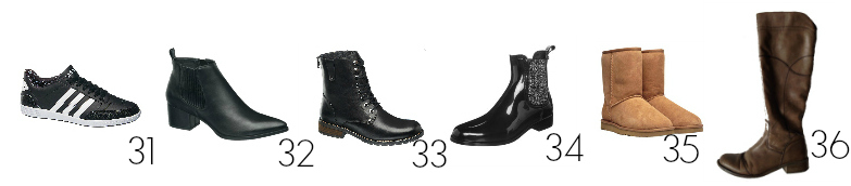 Winter Capsule Wardrobe Schuhe
